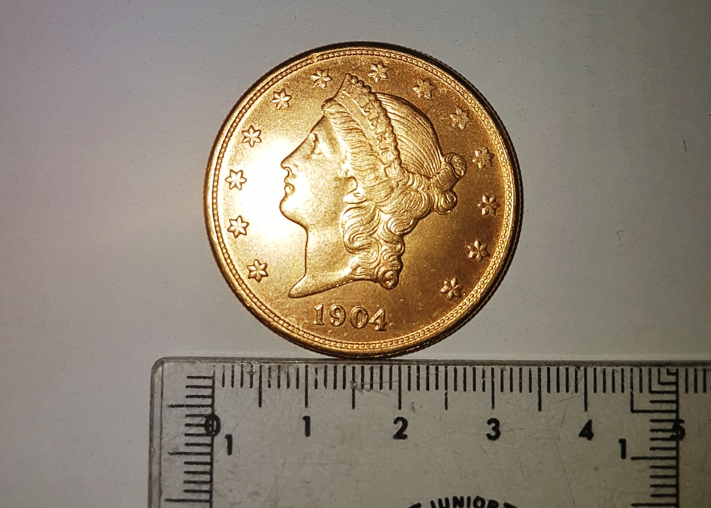 20 dolares de oro de 1904. Liberty Head. 20191010