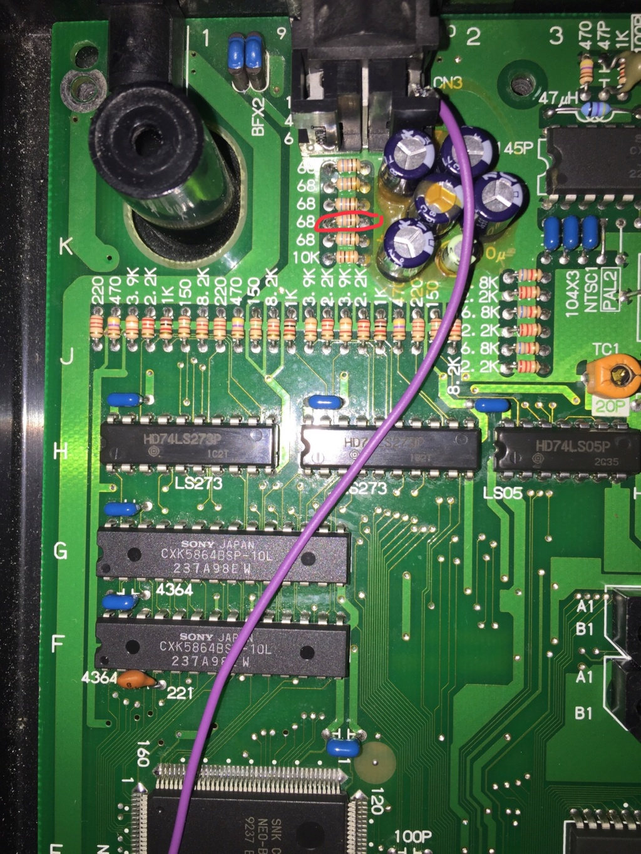 Neo-Geo aes malade qui sort une image en rca mais pas en rgb  4d31dd10