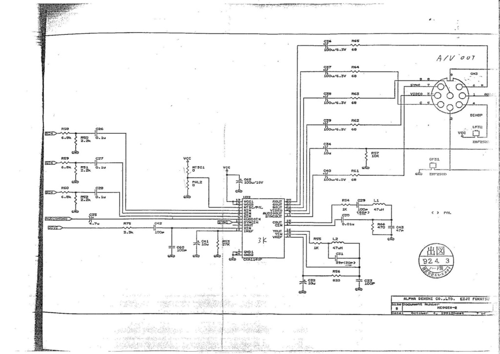 Neo-Geo aes malade qui sort une image en rca mais pas en rgb  5826e310