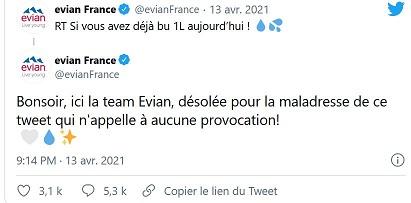 2021/04/14 La marque Evian s'excuse d'avoir incité à boire de l'eau alors que le Ramadan commence Evian_12