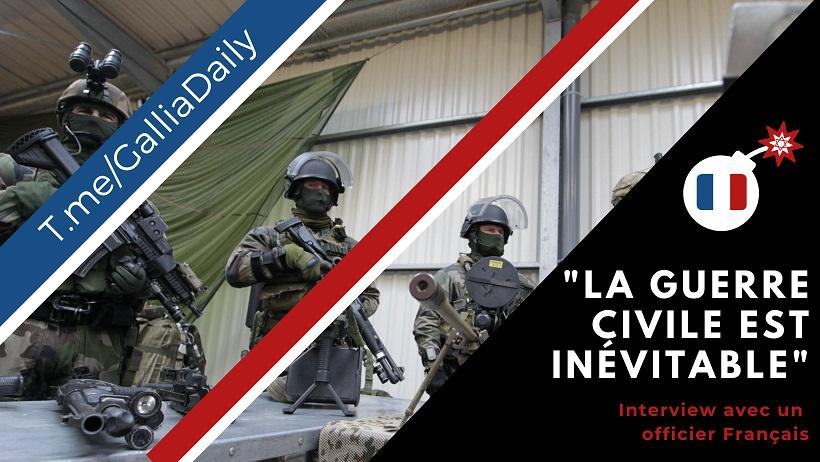 """2021/06/02 """"La guerre civile est inévitable"""" selon un officier français Guerre16"""