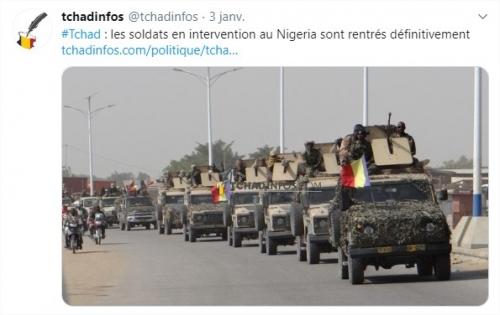 2020/01/04 Le Tchad rapatrie ses soldats du Nigeria mais la lutte contre Boko Haram continue Tchad_12