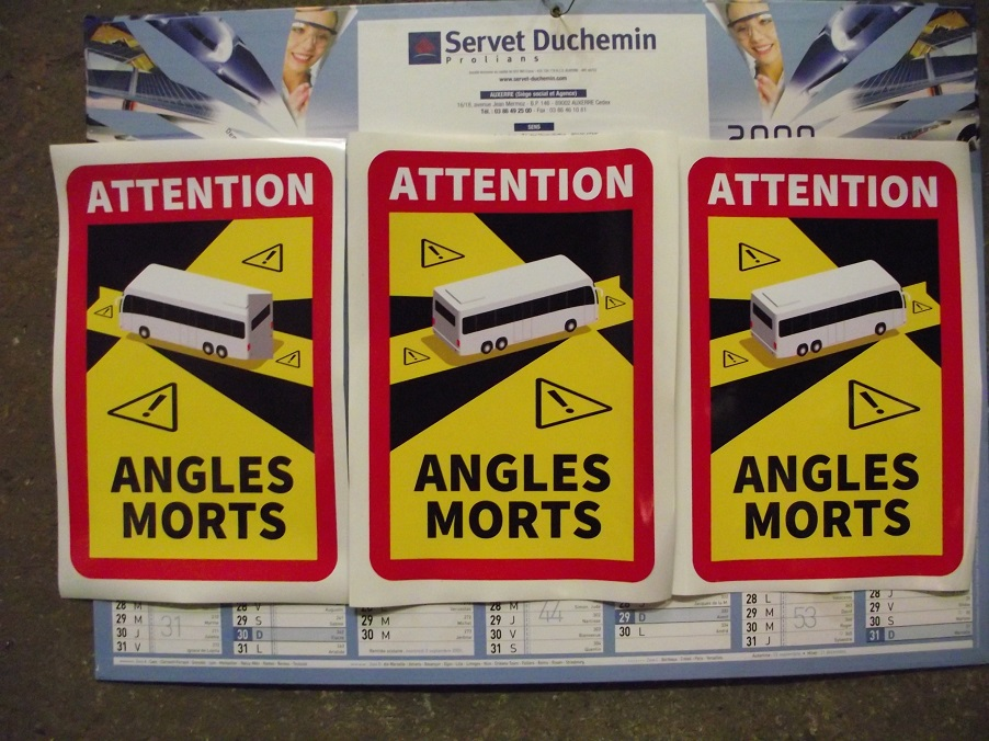 Signalisation des angles morts obligatoire pour les CC PL ? Angles10