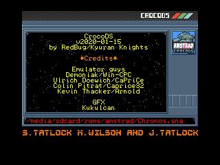 CrocoDS - Emulateur Amstrad Screen12
