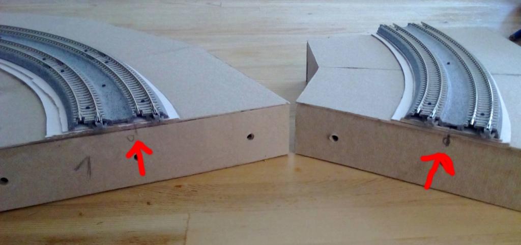 Die seltsamen Methoden des H.P. Wanninger: Karton-Modul-Tischanlage in Spur N Kato-031