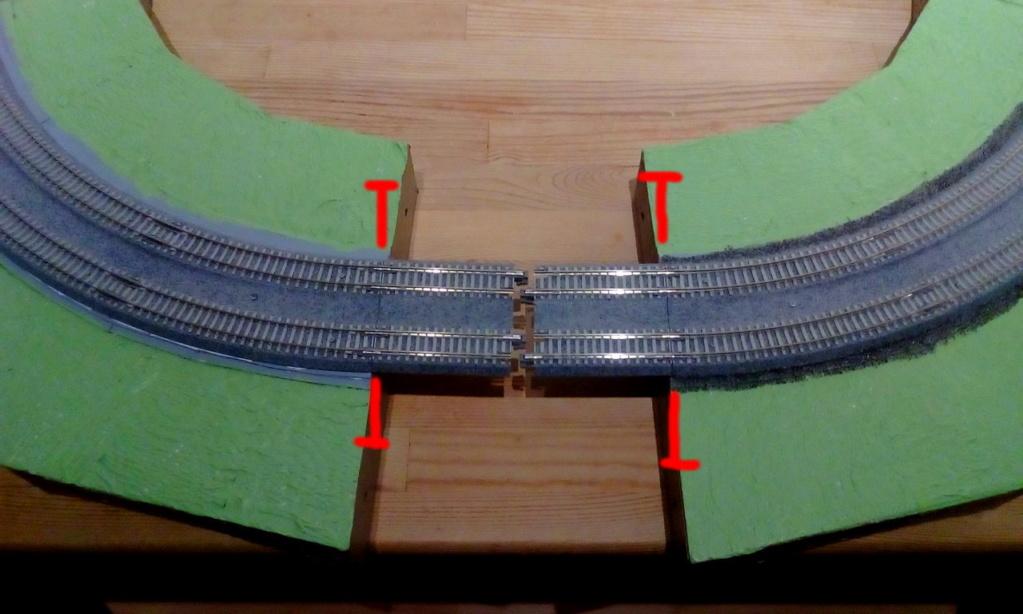 Weitere noch seltsamere Methoden des H.P. Wanninger: Karton-Module für H0 Kato-203