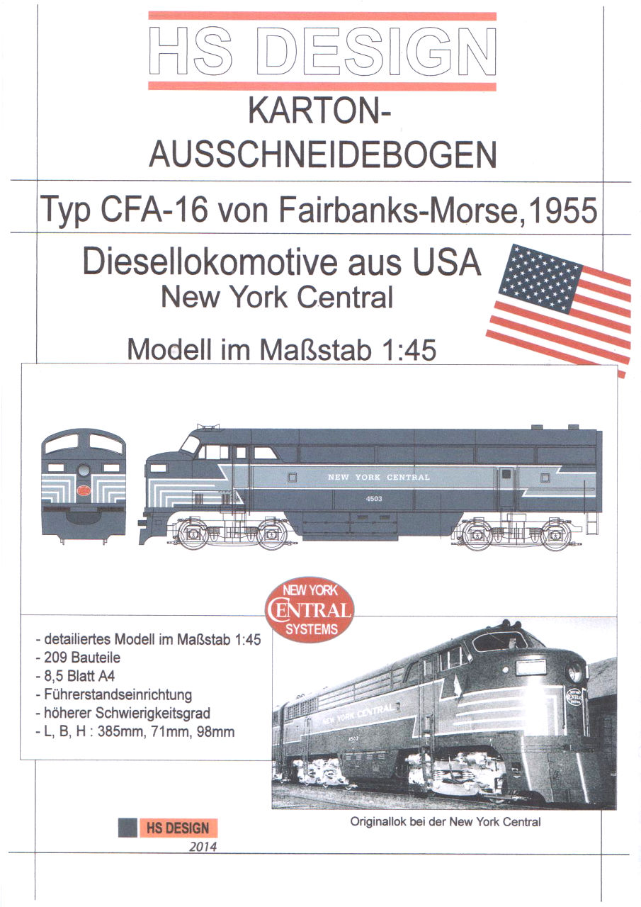 Fairbanks Morse der NY Central CPA-16 - HS-Design 1/45 Titel10