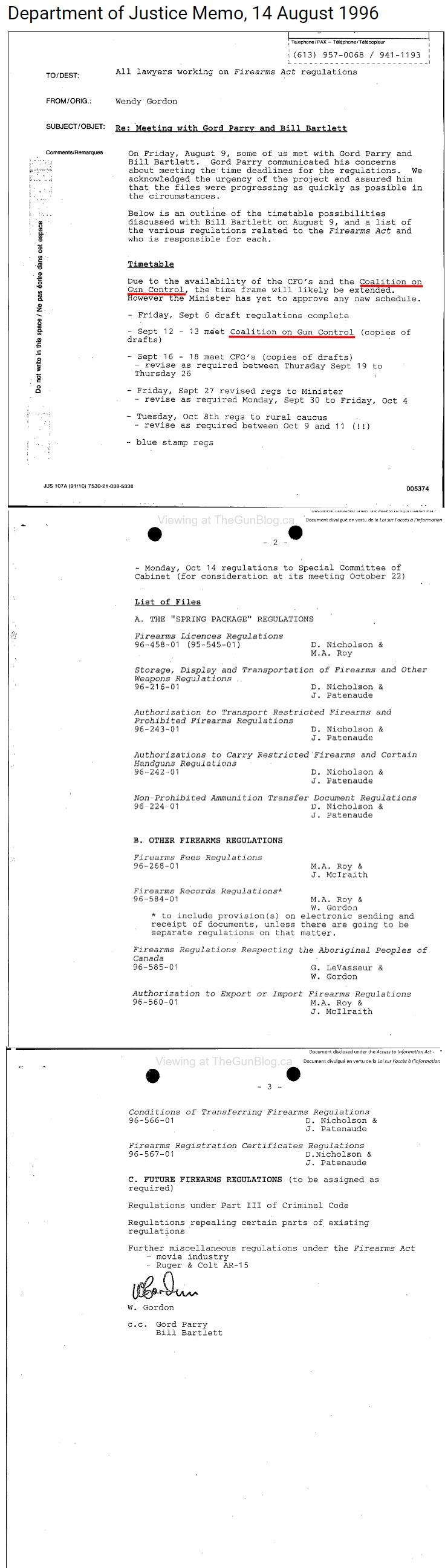 Le gouvernement a rédigé des lois sur les armes à feu avec la Coalition pour le contrôle des armes Asdasd10