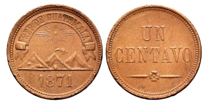 1 centavo Guatemala 1871 1_cent10