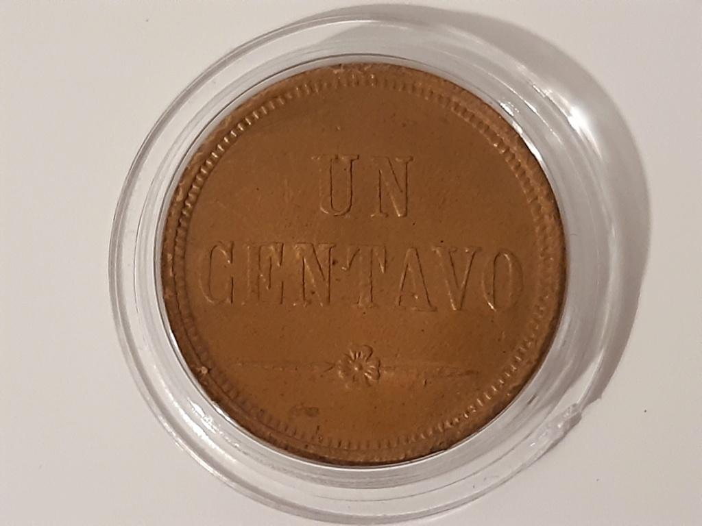 1 centavo Guatemala 1871 20210310
