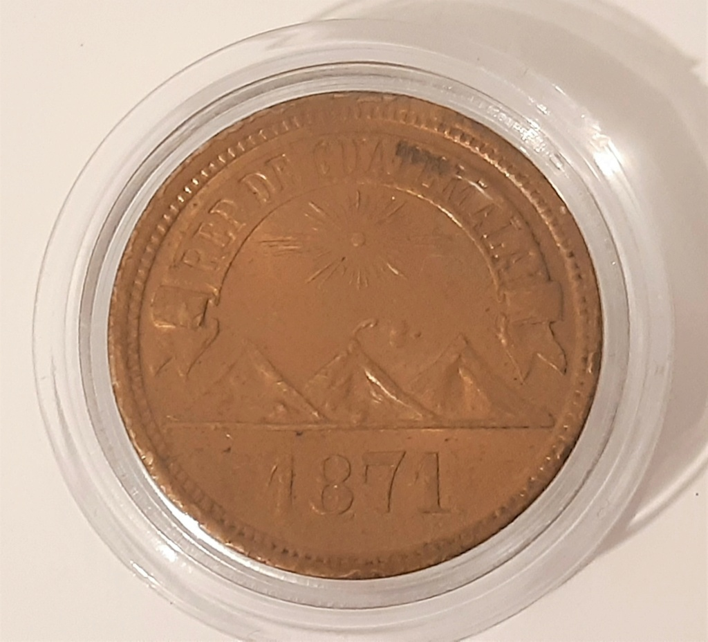1 centavo Guatemala 1871 20210311