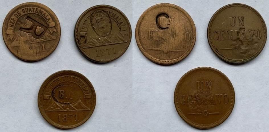 1 centavo Guatemala 1871 Contra10