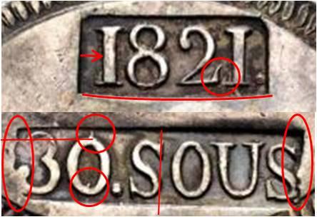 30 sous de 1821 de Mallorca  - Página 2 Punzon15