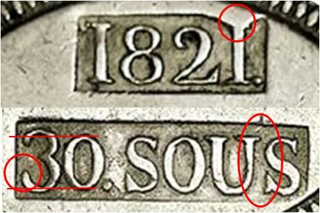 30 sous de 1821 de Mallorca  - Página 2 Punzon17