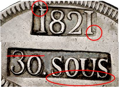 30 sous de 1821 de Mallorca  - Página 2 Punzon25