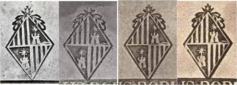 30 sous de 1821 de Mallorca  - Página 2 Punzon52