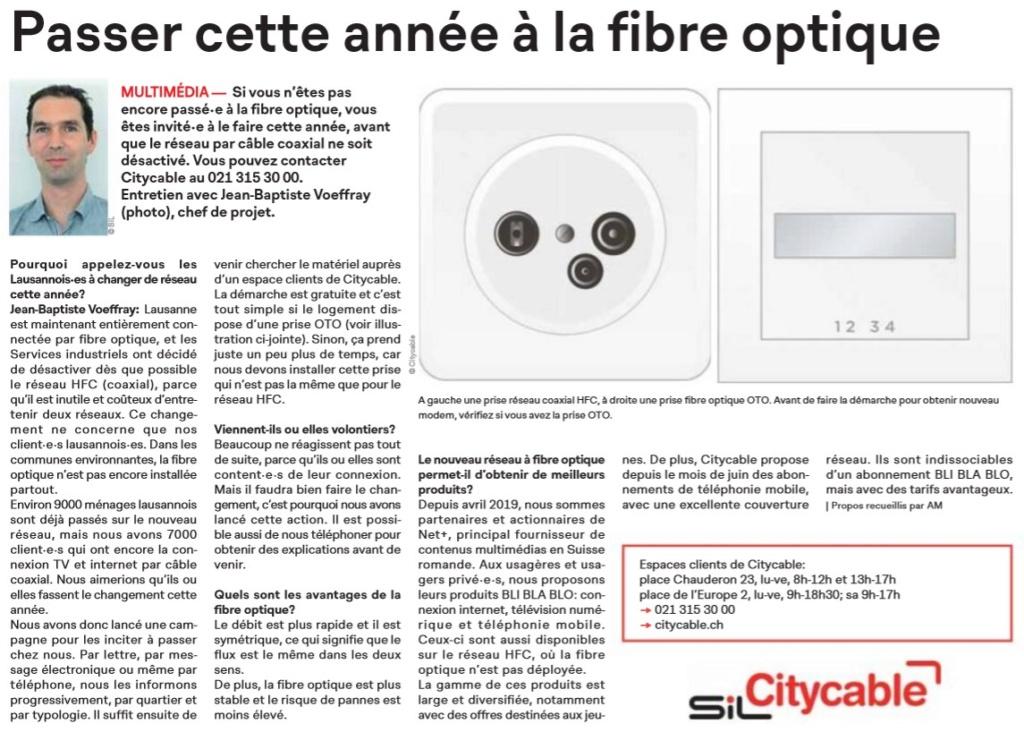 Lausanne - Fibre optique et démantèlement du réseau coaxial Lausan10