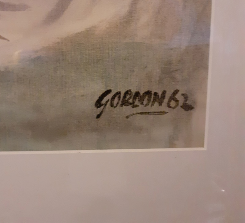 1960s ABSTRACT PAINTING SIGNED GORDON 20200310