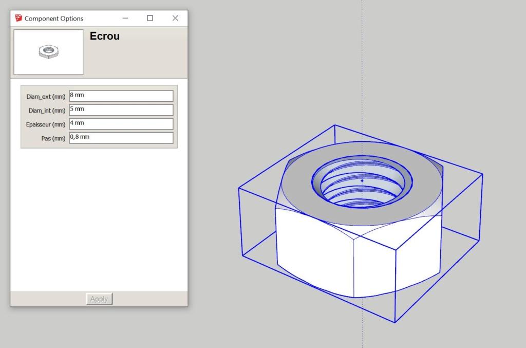 [ CHALLENGES ] Challenge thème : Création de composant dynamique sketchup - Silic Ecrou12