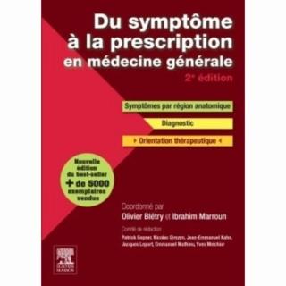 [med générale]:livre Du symptôme à la prescription en médecine générale pdf gratuit Marrou10