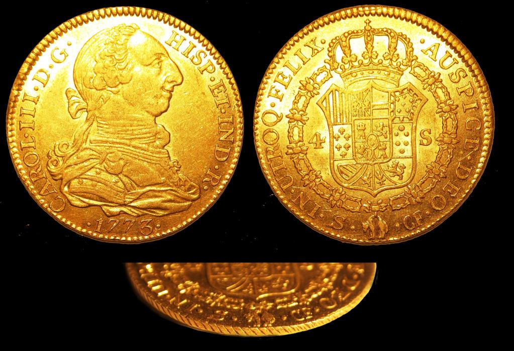 4 escudos Carlos III 1773, Sevilla 4_escu10