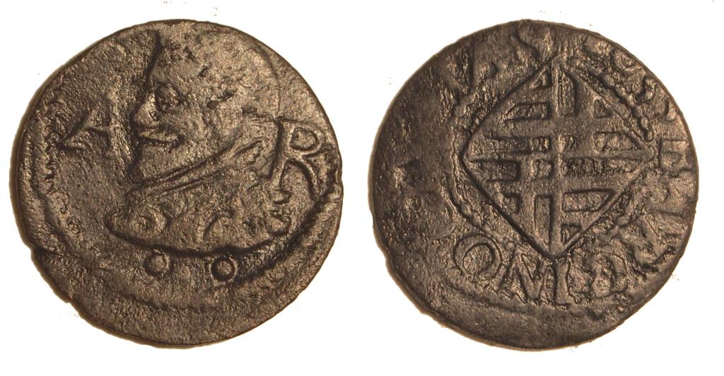 Ardite Felipe IV 1633 Barcelona, variante. Diner_12