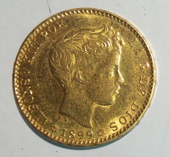 20 pesetas Alfonso XIII, falso de época no coincidente Img_2024