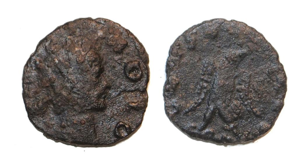 Radiado póstumo de Claudio II. CONSECRATIO. Águila M15410