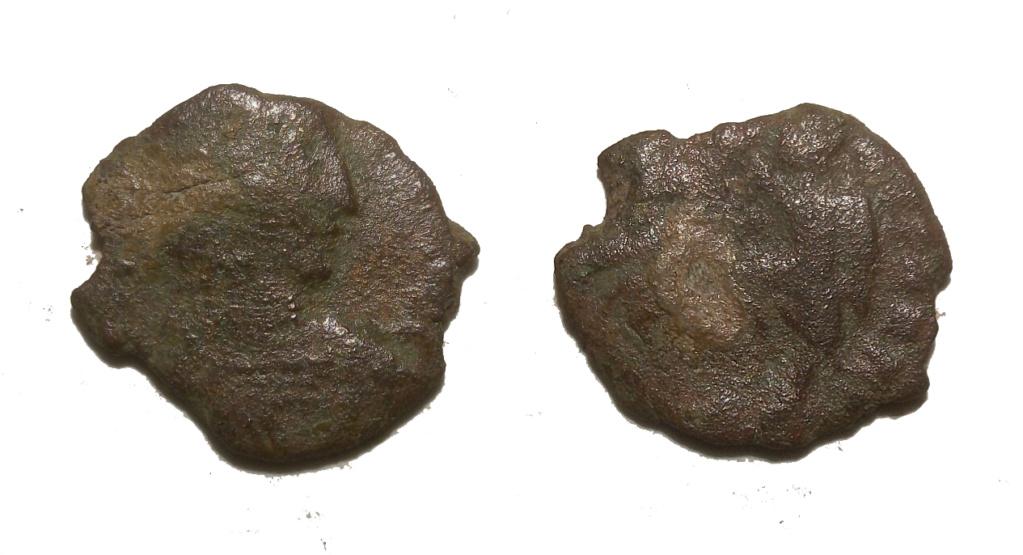 AE3 de Constancio II. FEL TEMP REPARATIO. Soldado alanceando jinete. Moneda10