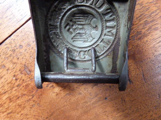 BOUCLE DE CEINTURON ALLEMAND WW2 P1060012