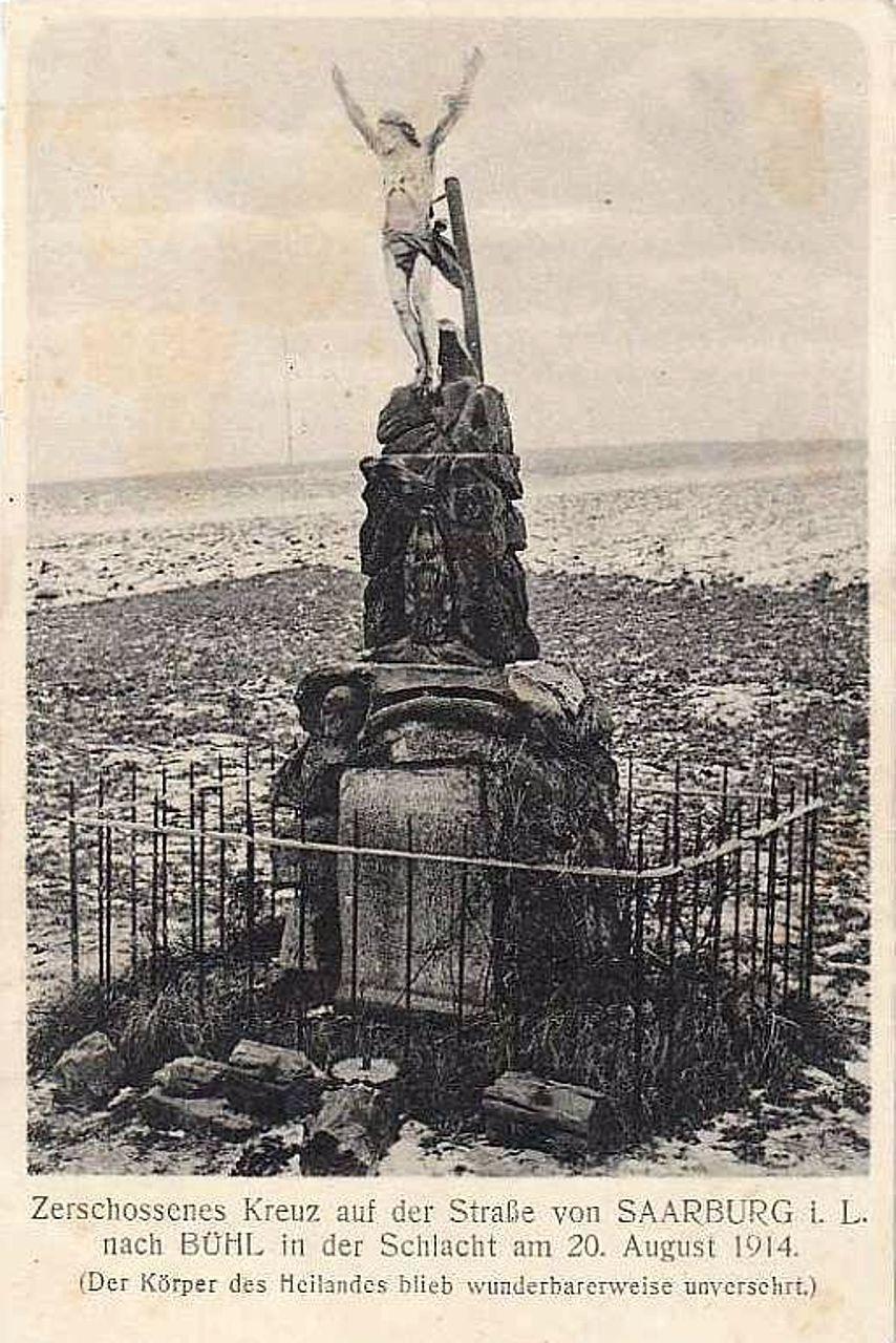 La miraculeuse croix de Buhl-Lorraine, Bataille de Sarrebourg. Bhuhl-11