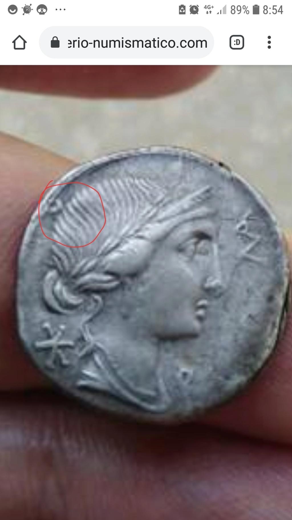 Denario de la gens Aemilia. MN AE-M-ILIO. Estatua ecuestre. Roma. 20200912