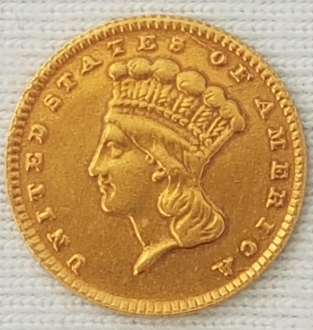 Dólar oro 1868 Cabeza de India Grande (tipo 3). Philadelphia 20210813
