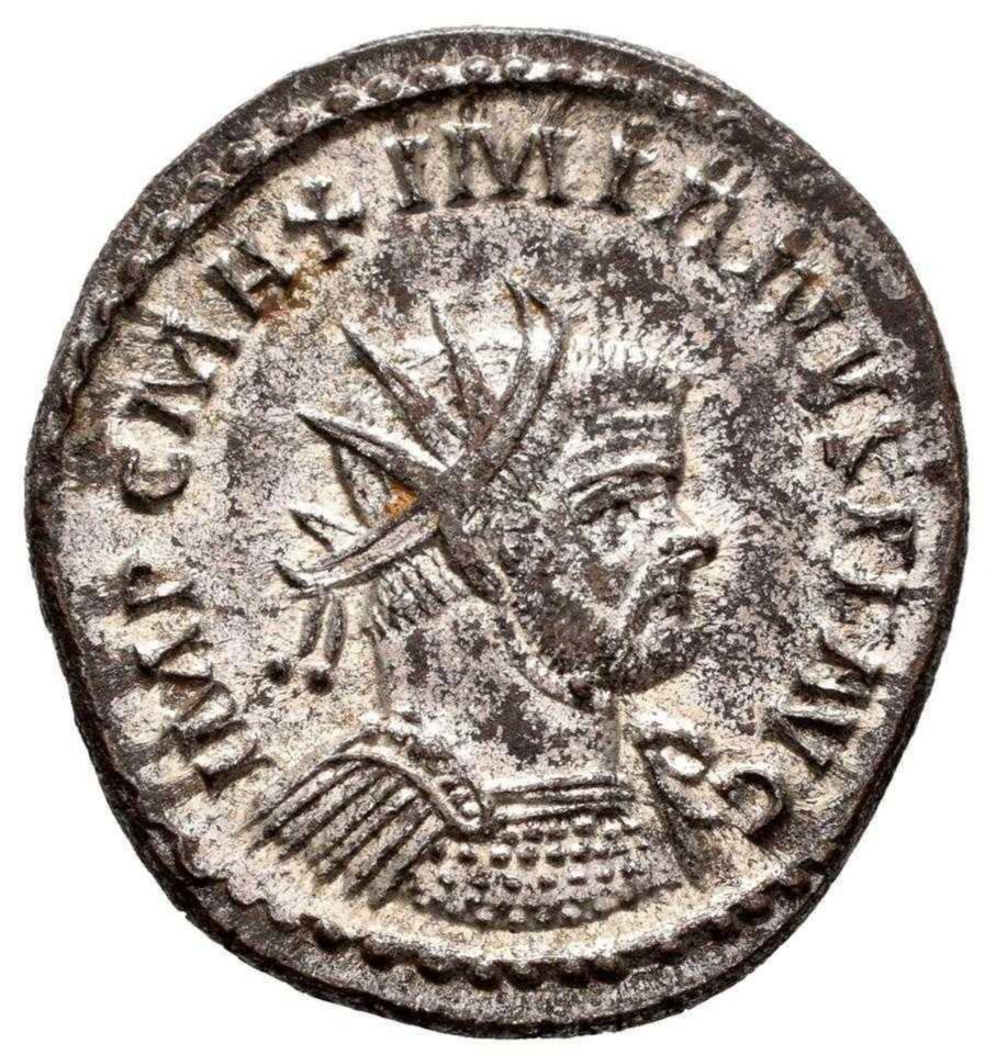 Aureliano de Maximiano Hércules. PAX AVGG. Pax estante a izq. Lugdunum. 20210817
