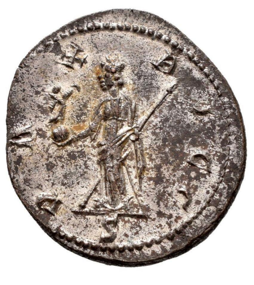 Aureliano de Maximiano Hércules. PAX AVGG. Pax estante a izq. Lugdunum. 20210818