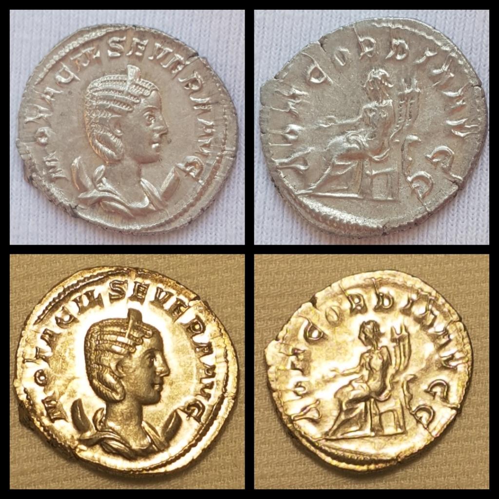 Antoniniano de Otacilia Severa. CONCORDIA AVGG. Concordia sedente a izq. Roma. Img_2010