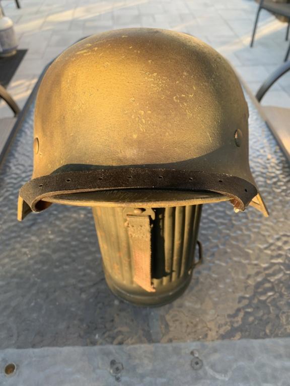 Relique de casque Allemand Q66, avec numéro de lot 2c587f10