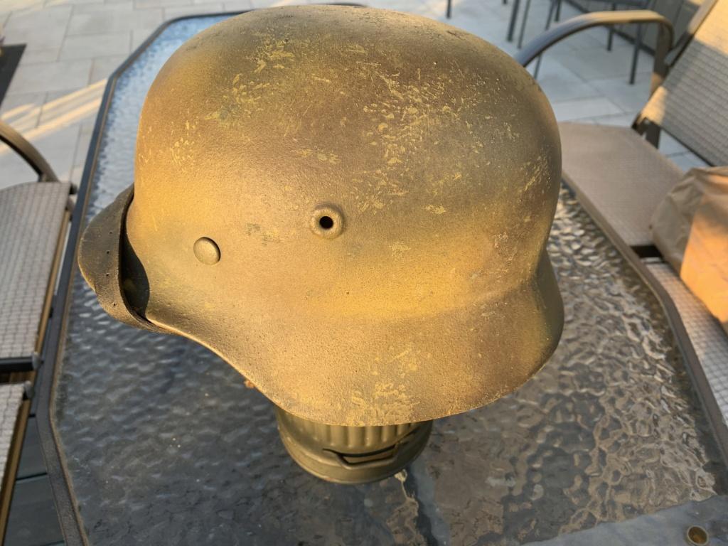 Relique de casque Allemand Q66, avec numéro de lot 5f2e0110