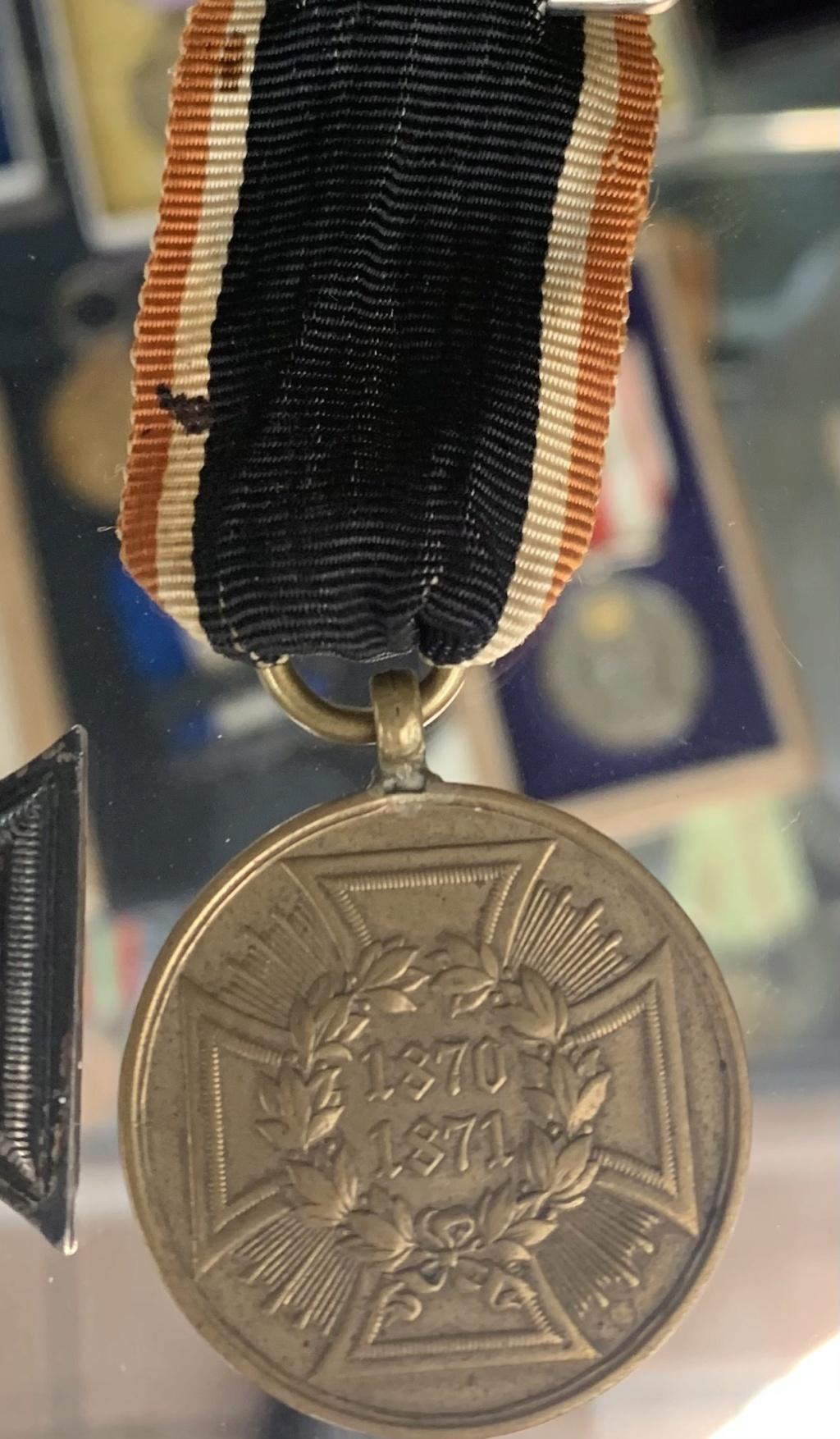 Ruban médaille Allemande 1870-1871 D4787110