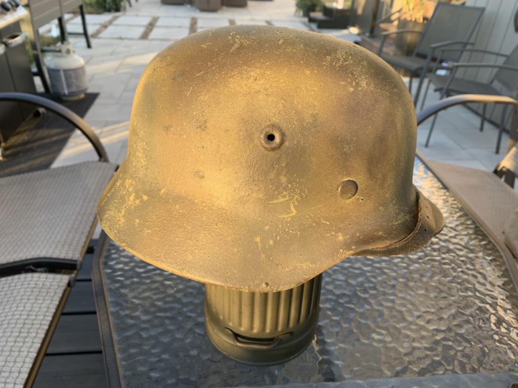 Relique de casque Allemand Q66, avec numéro de lot Fd93d110