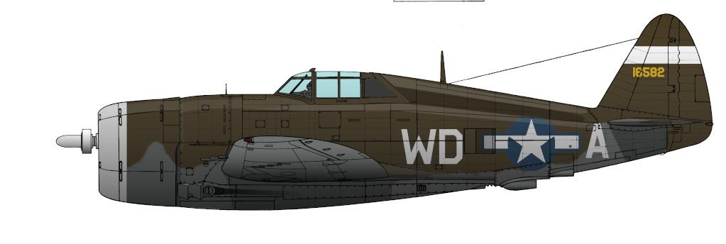 """Republic P-47 """"Thunderbolt"""" P-47ju10"""