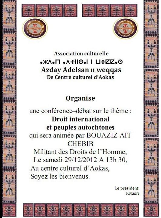 Bouaziz Ait-Chebib à Aokas le samedi 29 novembre 2012 Mak10