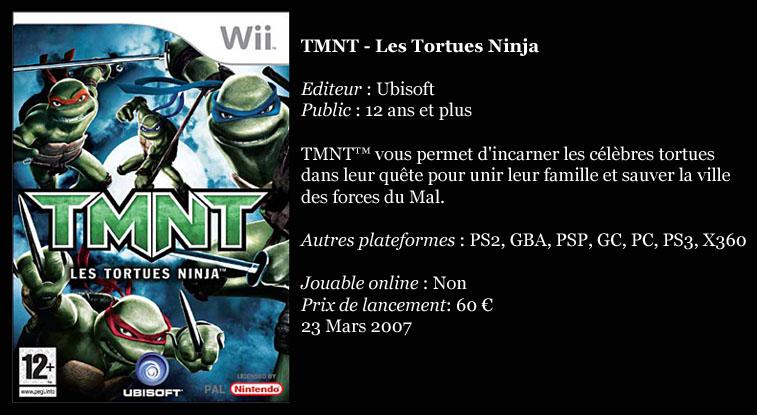 [Console]   Wii  (Nintendo)  2006. Tmnt10