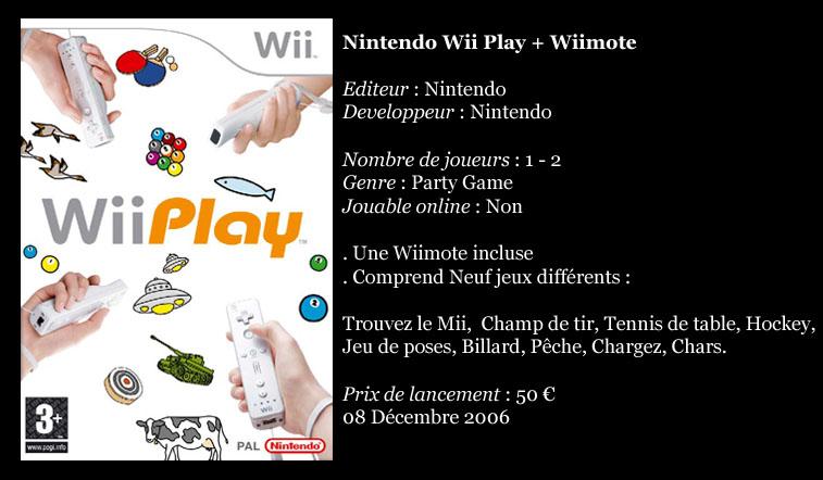 [Console]   Wii  (Nintendo)  2006. Wiipla10