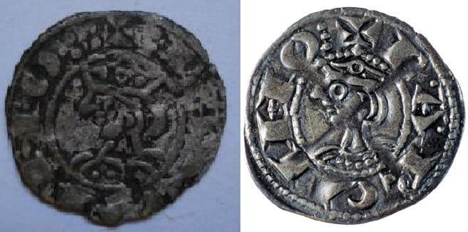 Dinero de Jaime I (Barcelona 1213-1276 d.c) Dibujo10