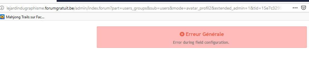 """(#4131) : Impossible de créer nouveaux champs de profil """"Error during field configuration"""" Image310"""