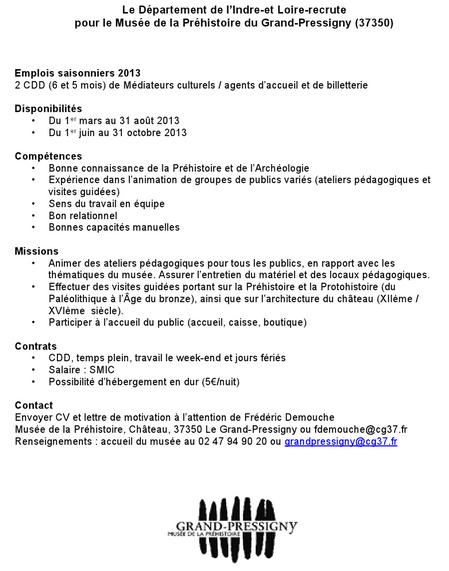 2 CDD médiateurs au Grand-Pressigny Cdd_2010