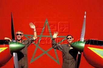 la patrouille acrobatique : la marche verte Sm-04313