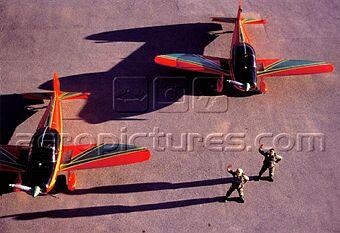la patrouille acrobatique : la marche verte Sm-04314