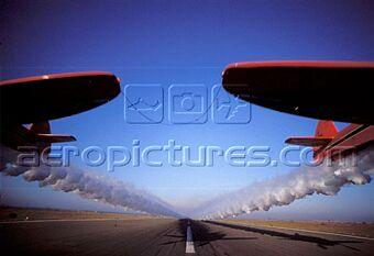la patrouille acrobatique : la marche verte Sm-04316